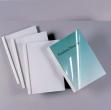 50 cartelline termiche 40mm silk white 150mic - Z03172
