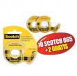 Promo pack 10+2 nastro biadesivo 665 6,3mtx12mm in chiocciola - Z03350