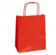 25 shoppers carta kraft 22x10x29cm twisted rosso - Z03401
