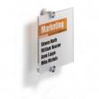 Targa per porte/pareti crystal sign 148x148mm durable - Z03472