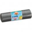 10 sacchi immondizia 70x110cm 120lt hd 16µ grigio logex - Z03526