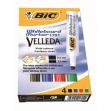 Astuccio pennarello velleda 1791 punta scalpello whiteboard 4 colori bic® - Z03577