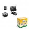 Set scrivania 4 accessori in rete nero art.1424 - Z03620