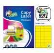 Etichetta adesiva giallo fluo 70fg A4 70x36mm (24et/fg) tico - Z03662