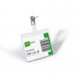 5 portabadge in pvc 60x90mm c/clip in metallo durable - Z03746