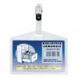 5 portanome pass 3p 9,5x6cm c/clip in metallo s/cartoncino sei rota - Z03876
