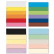 Conf.10 cartoncino bristol color 200gr 100x70cm scarlatto 61 favini - Z04464