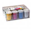 12 tubetti glitter da 22gr 5 colori assortiti 05330 cwr - Z04515