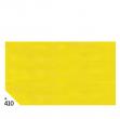Busta 26fogli 50x70cm carta velina gr31 giallo sadoch - Z04618