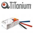100 dorsi plastici 21 anelli 10mm rosso titanium - Z04801