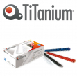 100 dorsi plastici 21 anelli 10mm nero titanium - Z04820