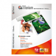 100 pouches 54x86mm 125my credit card titanium - Z04874