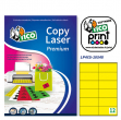 Etichetta adesiva lp4c giallo opaco 70fg A4 105x48mm (12et/fg) tico - Z04903