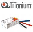 100 dorsi plastici 21 anelli 14mm rosso titanium - Z04927