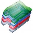 Vaschetta portacorrispondenza blu trasp. salvaspazio helit - Z04941
