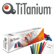 50 dorsi rilegafogli 4mm bianco titanium - Z05005