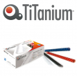 50 dorsi plastici 21 anelli 44mm blu titanium - Z05014