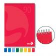 Blocco notes spiralato lato corto 150x210mm 90gr 50fg 5mm color bm - Z05047