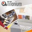 50 cartelline termiche 12mm bianco grain titanium - Z05063
