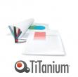50 cartelline termiche 15mm bianco grain titanium - Z05064