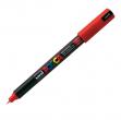 Marcatore uni posca pen pc1m rosso ultra fine - Z05071