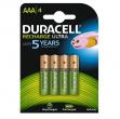 Blister 4 pile ricaricabili aaa - ministilo 800mah duracell precharged - Z05093