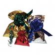 50 buste regalo in ppl metal lucido 35x50cm blu senza patella adesiva - Z05185