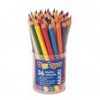 Barattolo da 36 pastelli colorati maxi jumbo 100 fsc in 12 colori primo - Z05228