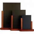 Lavagna da tavolo mogano A5-20x23x6cm elegant securit - Z05444