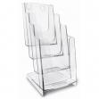 Portadepliant 4 tasche 1/3 A4 - 11,5x26,5x18,4cm arda - Z05629