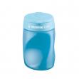 Temperamatite easy 3 fori c/contenitore ergonomico blu per destrimani stabilo - Z05826