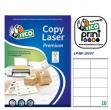 Etichetta adesiva LP4W bianca 100fg A4 105x57mm (10et/fg) Laser Tico - Z05902