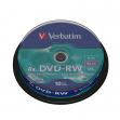 Scatola 10 dvd-rw spindle 4x 4.7gb 120min. serigrafato - Z09426