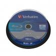 Scatola 10 dvd blu ray bd-r sl 25gb 6x spindle mabl white/blu - Z09430