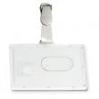 Portabadge rigido pocket l460 53x85mm c/clip in plastica - Z09848