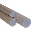 Tubo in cartone avana doppio tappo trasparente 70cm ø10cm - Z10312