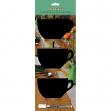 Set 3 mini lavagne segnaposto silhouette 'tazza' securit - Z10863