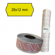 Pack 10 rotoli 1000 etich. 26x12mm onda giallo perm. printex - Z10976