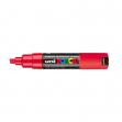 Marcatore uni posca pc8k punta scalpello rosso - Z11048