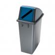 Contenitore office 60lt + coperchio blu con feritoia per carta - Z11186