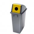 Contenitore office 60lt + coperchio giallo con foro per bottiglie - Z11187