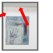Sistema appendi quadri a parete arte system - Z11410