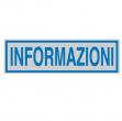 Targhetta adesiva 165x50mm informazioni - Z11457
