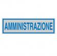Targhetta adesiva 165x50mm amministrazione - Z11460
