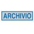 Targhetta adesiva 165x50mm archivio - Z11461