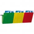 Kit vision kanban l75cm con 3 tasche A4 colorate - Z11683