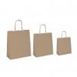 25 shoppers carta biokraft 45x15x50cm neutro cordino avana - Z11694