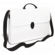 Valigetta polionda a tracolla bianco 27x37,5cm dorso 8cm - Z11972