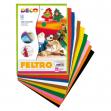 Feltro colorato conf. da 10 fogli in colori assortiti cwr - Z11984