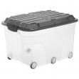 Contenitore compact con ruote 57lt con coperchio nero - Z12104